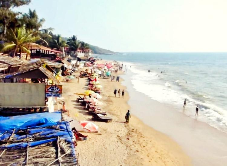 Camping in Anjuna beach, Goa