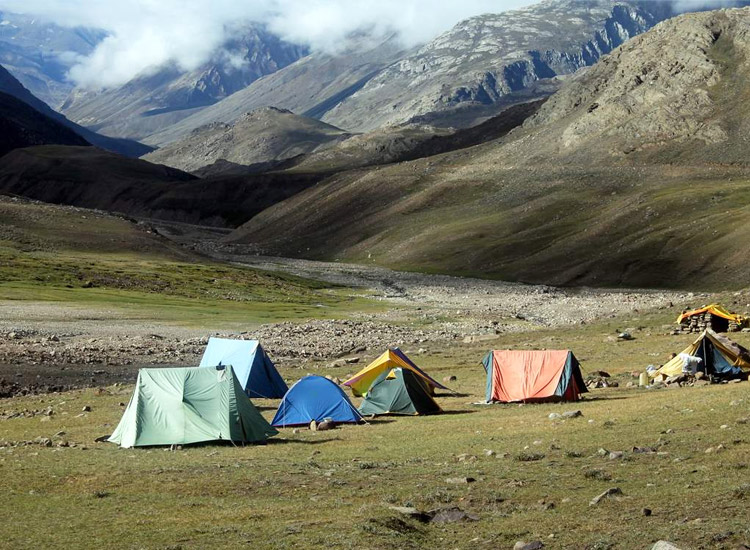 Camping in Chandratal Lake, India