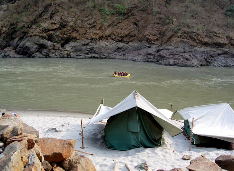 Camping in Rishikesh, Uttarakhand