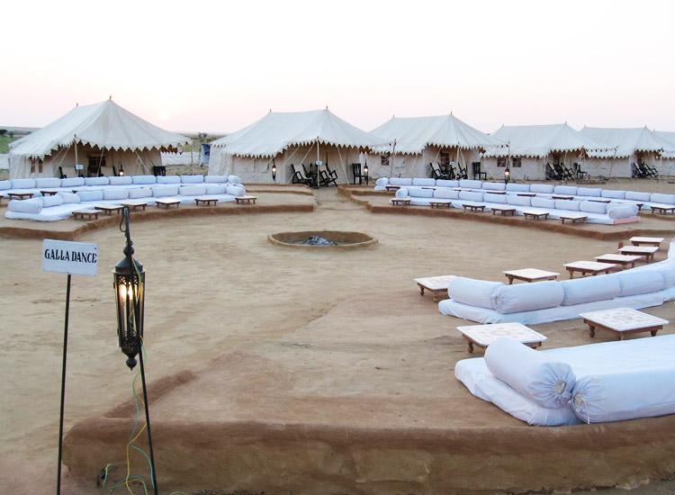 Camping in Sam Sand Dunes, Jaisalmer