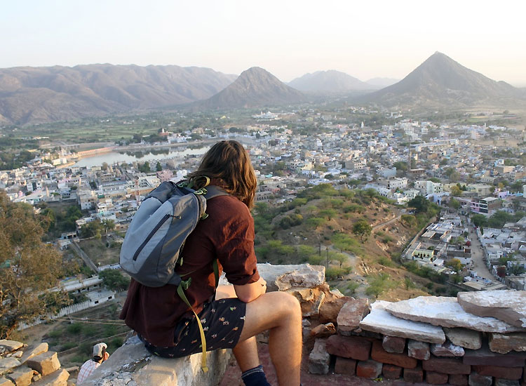 Pushkar city in Rajasthan