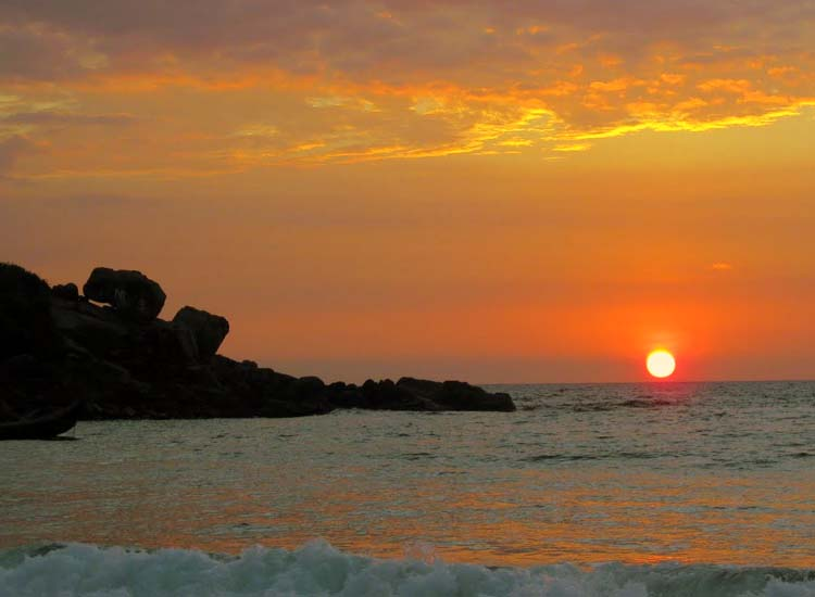 sun set at Kovalam Beach