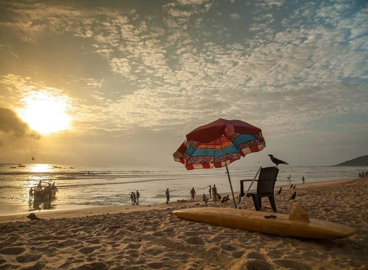 Calangute Beach is the longest beach in North Goa