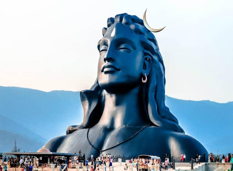 112 feet tall 'Adiyogi' Lord Shiva steel statue situated in Coimbatore