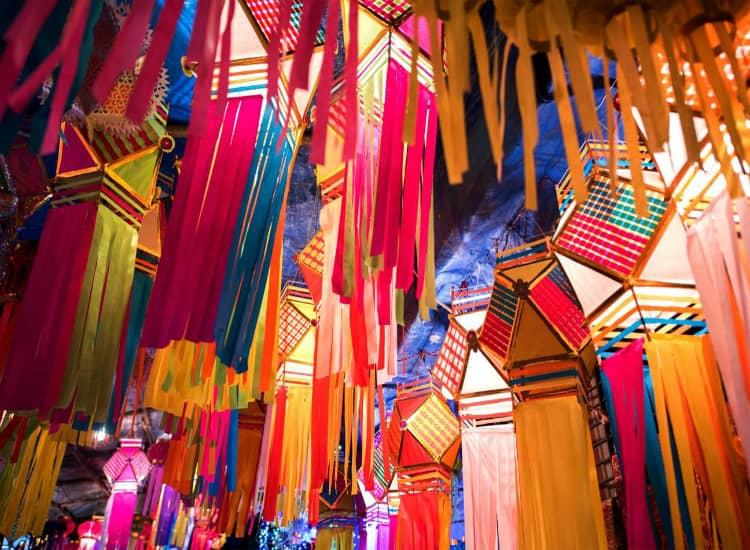 Market in Goa during Diwali