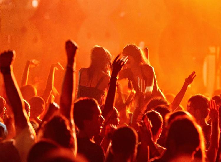 People enjoy new year in Goa.