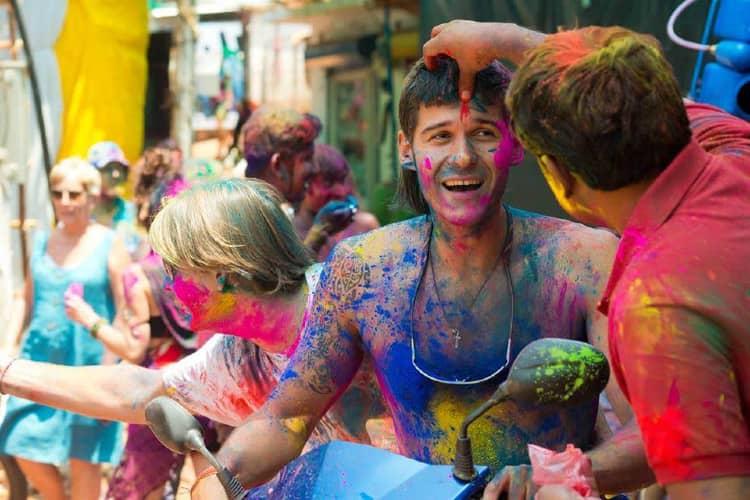 Foreigners Enjoying Holi last year