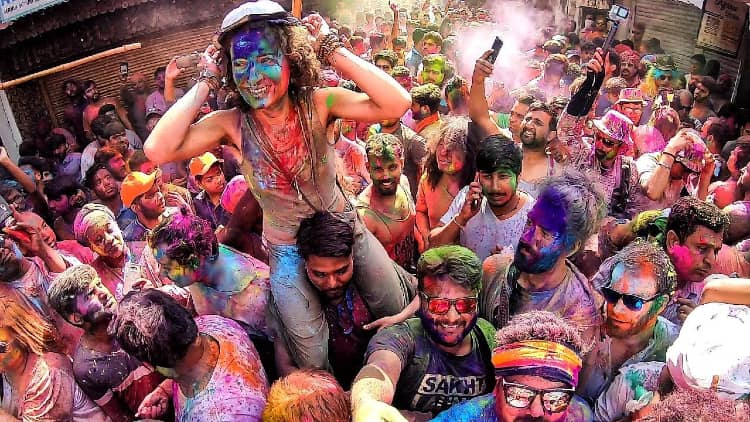 Holi celebration in holi must visit place in India