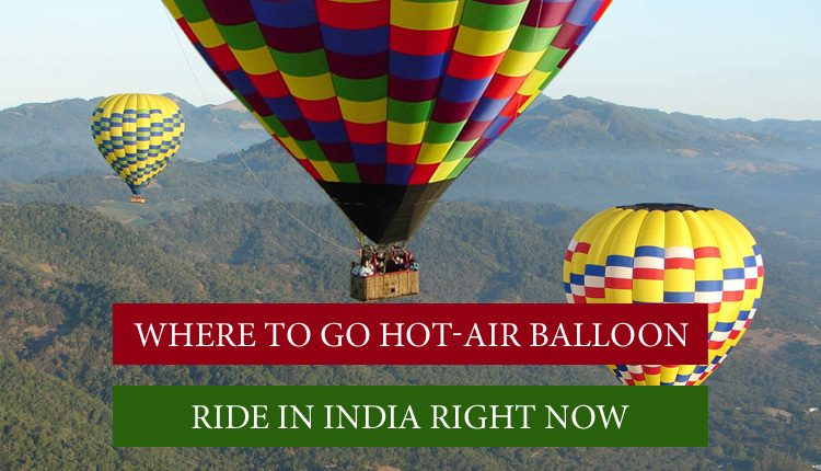 Hot Air Balloon Ride in India