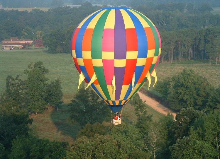 Hot air ballon ride in Hampi