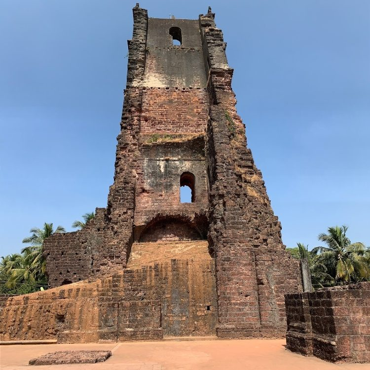 ST Augustine tower in Goa